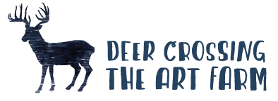 Deer Crossing the Art Farm