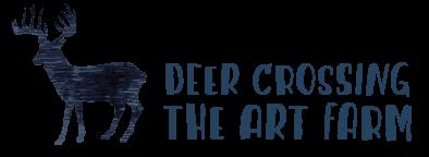 Deer Crossing the Art Farm